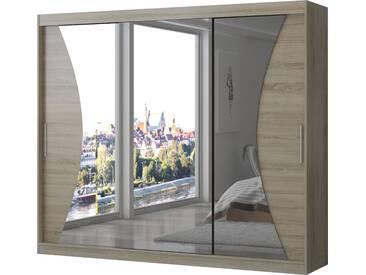 SOLDES - Armoire design 3 portes coulissantes 250 cm coloris sonoma