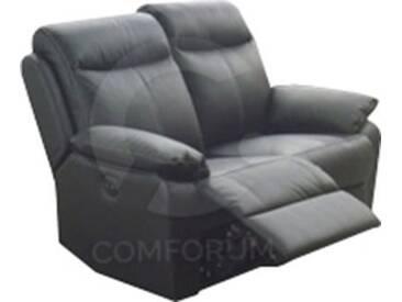Canapé 2 pl avec relax électriques en cuir coloris noir