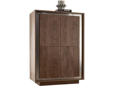 SOLDES - Meuble bar 105x145 cm à 4 portes à ouverture inversée coloris cognac