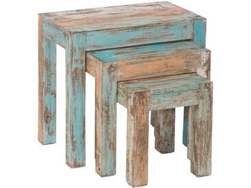Ensemble de 3 tables gigognes en bois massif collection C-Atsue