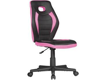 Chaise de bureau rose design en mousse + pu + plastique et polypropylène collection C-Helin : L. 63 x P. 63 x H. 91-103 cm