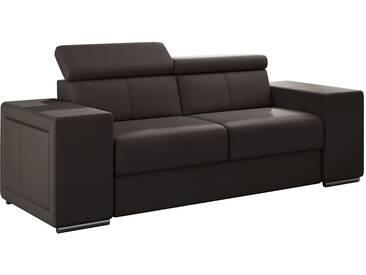 Canapé moderne 2 places en pvc brun