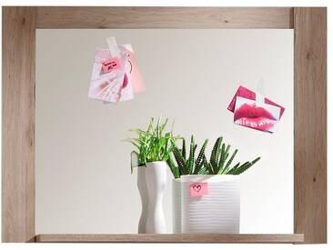 SOLDES - Miroir mural rectangulaire 96 cm coloris chêne San Remo