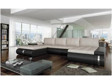 JUSTyou FADO LUX Canapé panoramique Blanc Beige