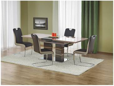 JUSTyou Ensemble Table Lord Brune + 4 Chaises K184