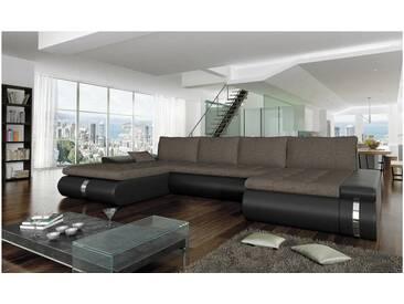 JUSTyou FADO LUX Canapé panoramique Blanc Brun