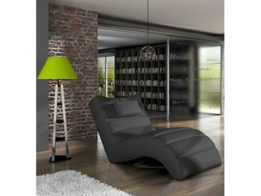 JUSTyou LOS ANGELES Fauteuil relax Noir