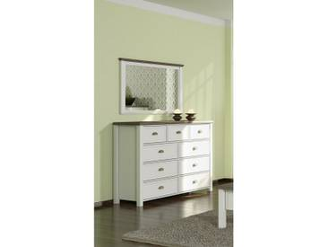 JUSTyou Cadeau Commode Blanc | Chene San Remo