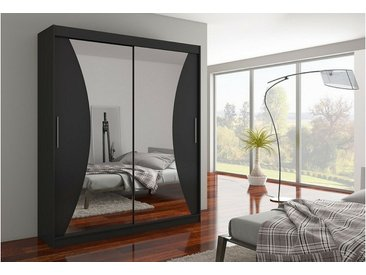 JUSTyou Charlotte Armoire Penderie Noir