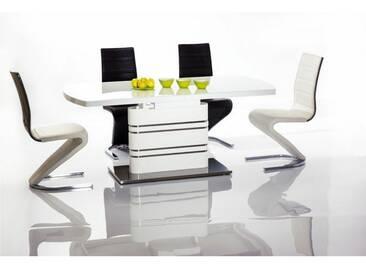 JUSTyou Gucci Table a rallonge Blanc 76x90x180-240 cm