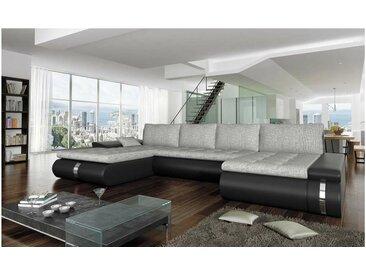 JUSTyou FADO LUX Canapé panoramique Noir Gris