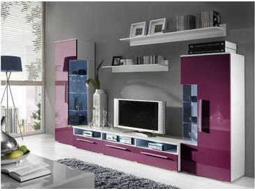 JUSTyou ROMO Ensemble TV mural Blanc Violet