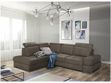 JUSTyou Iness Canapé Cuir synthétique Taupe avec