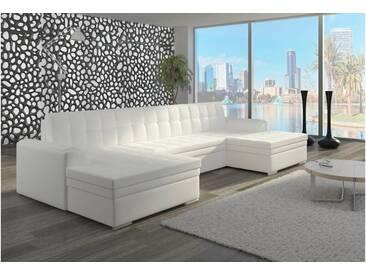 JUSTyou Vento Canapé panoramique 165x365x81 cm Blanc