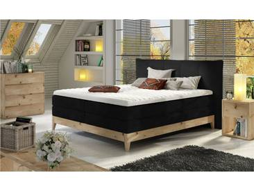 JUSTyou Forest Lit boxspring Massiv Noir 140x200