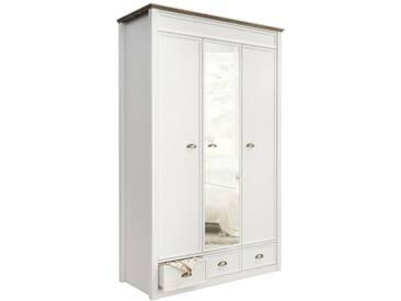 JUSTyou Cadeau Portes tournantes Armoire Blanc | Chene