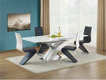 JUSTyou Sandor Table salle a manger Blanc