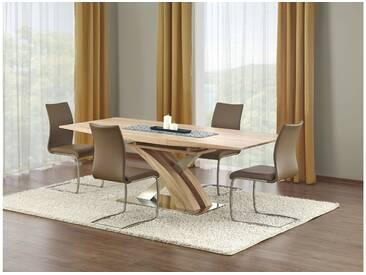 JUSTyou Sandor Table salle a manger Sonoma Chene