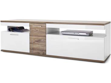 JUSTyou Indio Meuble TV Blanc| Chene Stirling