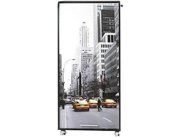 Bureau informatique contemporain 2 tiroirs 65,2 cm - Noir imprimé New York