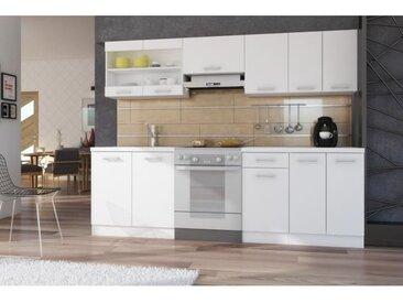 ULTRA Cuisine complète avec plan de travail L 2m40 - Blanc mat