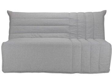 BETH Banquette BZ 3 places - Tissu gris - Comfort BULTEX - L 162 x P 104 x H 98