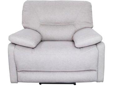 ARTHUS Fauteuil de relaxation électrique en tissu beige clair - Classique - L 112 x P 98 cm