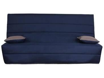 SPLOT Banquette clic clac 3 places - Tissu bleu - Style contemporain - L 190 x P 95 cm