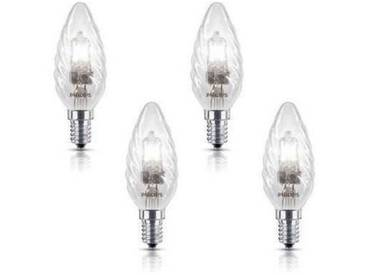PHILIPS 4 Ampoules EcoHalo E14