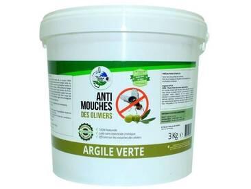 Argile verte Mouches des oliviers - Seau 3 kg