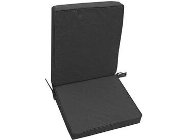 JARDIN PRIVE Coussin d'extérieur pour fauteuil HD MONTE CARLO - 90 x 42 x 5 cm - Gris Ardoise