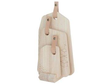 ECO DESIGN A1901 Set Organique 3 planches à découper avec cuir