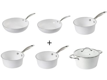 SITRAM Lot X6 Hegoa : Poêle + Wok + Faitout + 3 casseroles