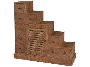 MALAGA Meuble escalier ethnique en mindi cannelle verni - L 105 cm