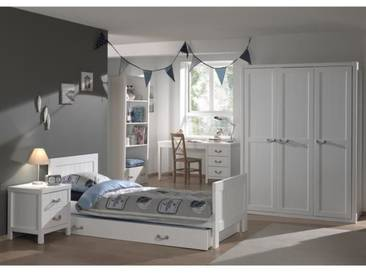 LEWIS Meuble de chambre 6 pièces - Blanc