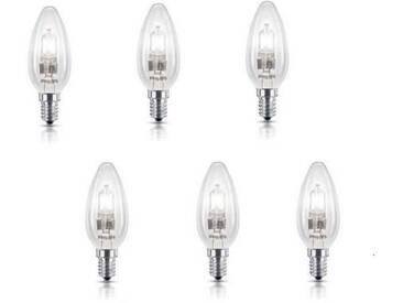 PHILIPS Lot de 6 ampoules Ecohalo E14 18 W équivalent à 23 W