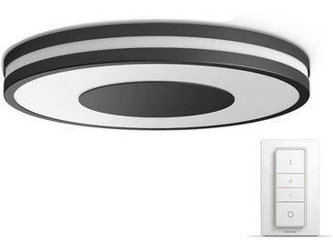 PHILIPS Plafonnier Being HUE - LED - Ø 34,8 x H 5,1 cm - Métal et synthétique - Noir