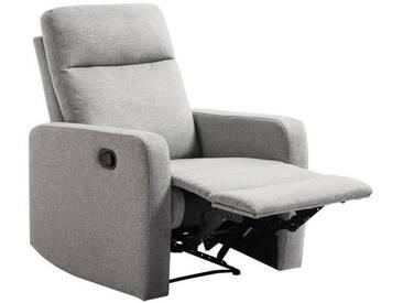 RELAX Fauteuil de relaxation manuel - Tissu gris - Classique - L 76 x P 88 cm