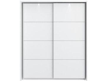 STARLET PLUS Armoire de chambre avec LED style contemporain blanc brillant et mat - L 181 cm