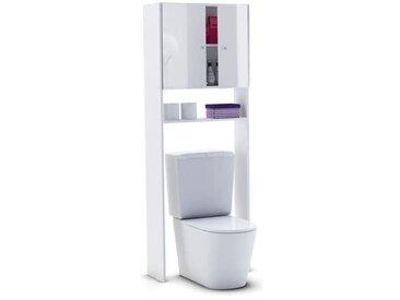 CORAIL Meuble WC ou machine à laver L 63 cm - Blanc Laqué