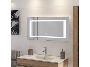LOUNGITUDE Miroir rétro-éclairé - Cadre métal - L 100 cm - LED2