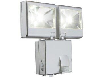 Globo Lighting Projecteur extérieur - Plastique gris métallisé - Plastique translucide - IP44