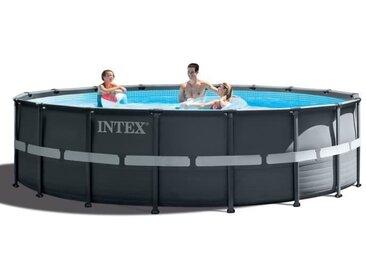 INTEX Kit Piscine ronde tubulaire Ultra Frame - 5,49 x 1,32 m