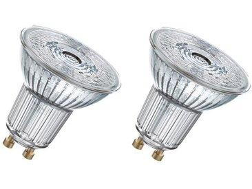 OSRAM Lot de 2 Ampoules spot LED PAR16 GU10 7,2 W équivalent à 80 W blanc froid dimmable