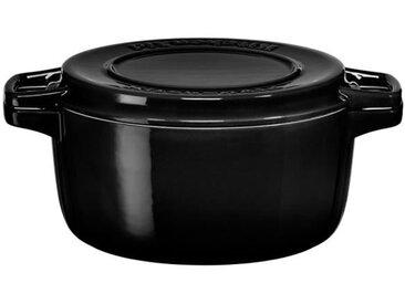 KITCHENAID KCPI60CROB - Cocotte ronde en fonte - Ø 28 cm - Noir inoyx - Tous feux dont induction