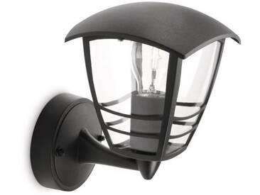 CREEK-Applique dextérieur Montante Métal H20cm Noir Philips