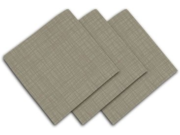 SOLEIL D'OCRE Lot de 3 serviettes de table - Galaxy - 45x45 cm - Taupe