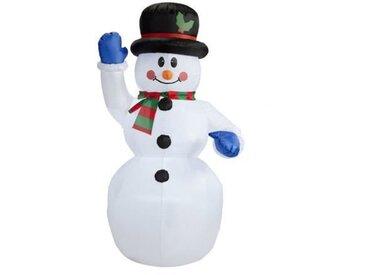 CHRISTMAS DREAM Bonhomme de neige gonflable - IP44 - H 1,2 m - Câble 2 m - Blanc