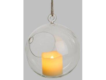 LOTTI Bougie LED dans un verre à suspendre - Forme sphère - Ø 5 x H 5 cm - Blanc chaud