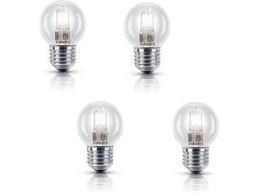 PHILIPS Lot de 4 ampoules Ecohalo E27 42 W équivalent à 55 W
